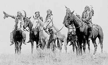 Photo of Comanche Indians that once terriorized the Leander area, site of the Webster party wagon train massacre