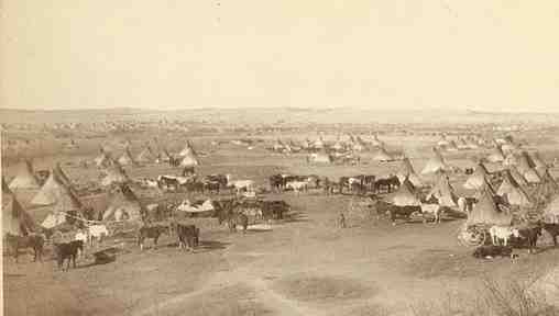 Photo of Comanche Indian Campsite in early day Leander