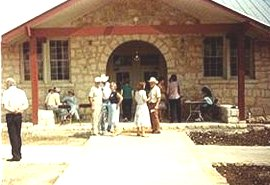 Photo of early day Whitestone School in Cedar Park Texas