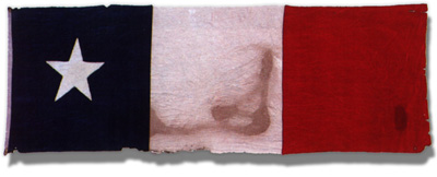Photo of the Dodson flag that once flew over Texas