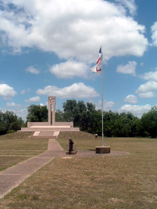 Another Photo of the Fannin Memorial