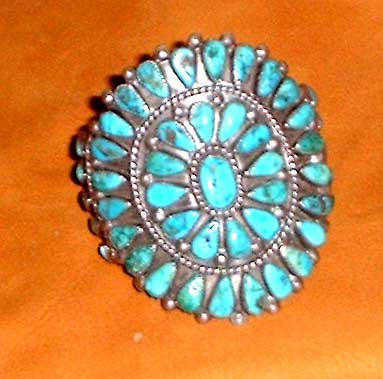 Photo of Navajo Indian Old Pawn Silver and Turquoise bracelet