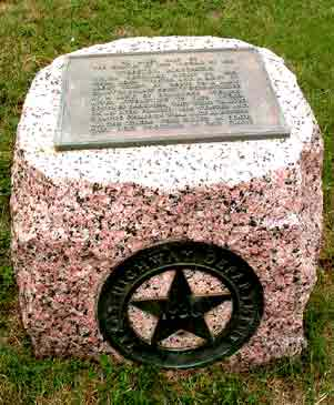 Photo of Texas Historical Marker at the site of the Webster Wagon Train Massacre