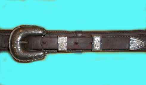 Photo of ranger style vintage leather belts, gunbelts