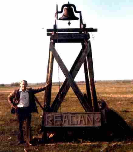 Photo of the Reagan Texas campus School Bell that we all remember