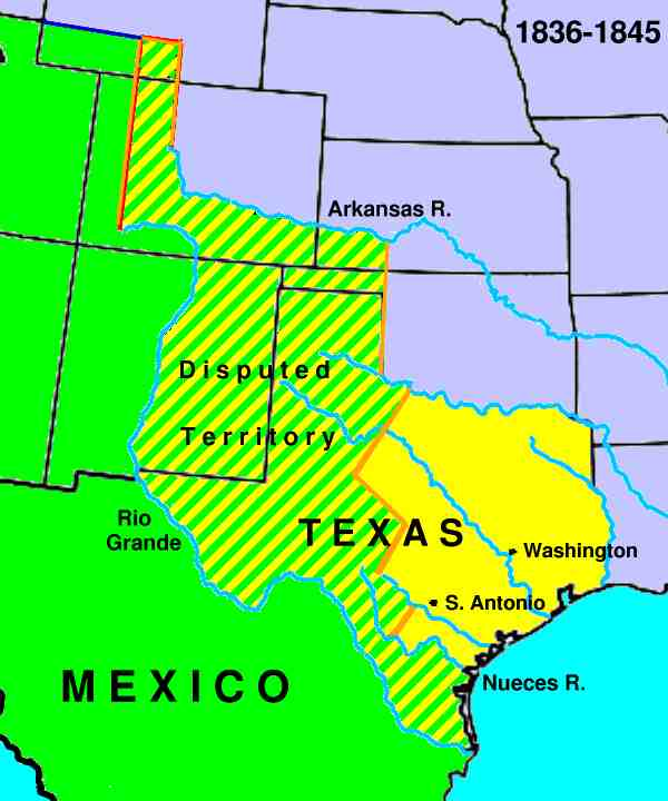 Map Of Texas 1836.History Of The Republic Of Texas 1836 1846