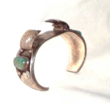 Photo of Native American Indian Silver and Turquoise Watch Band